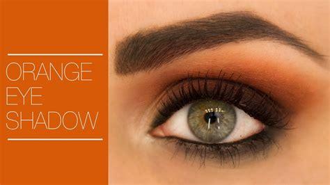 Eyeshadow Orange how to wear orange eyeshadow