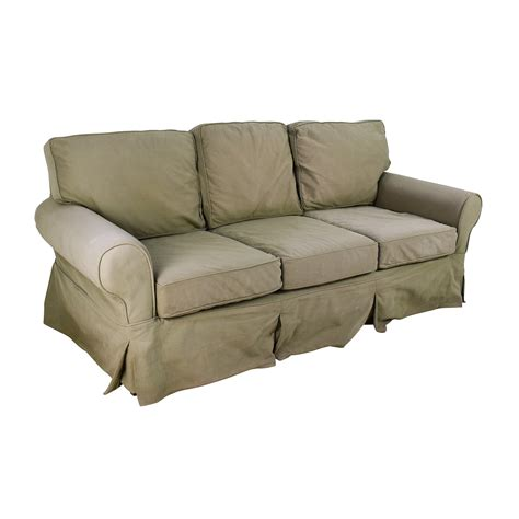 couch sell 89 off pottery barn pottery barn sage couch sofas