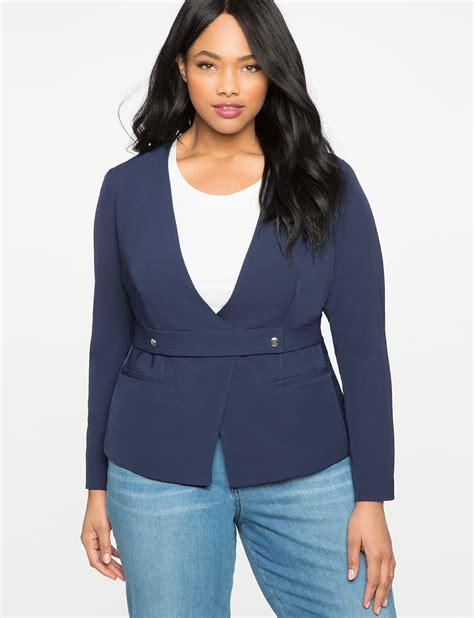 Belt Blazer belt front blazer s plus size coats jackets