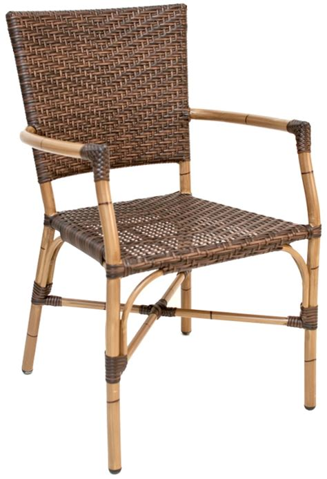Commercial Patio Chairs by Commercial Patio Arm Chair Safari Rattan W Bamboo Frame