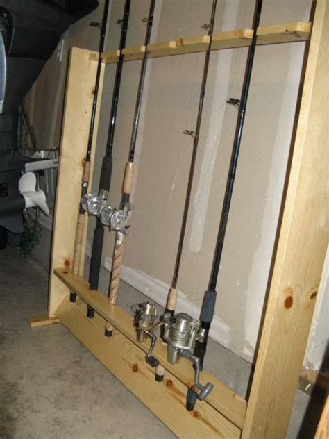 diy fishing rod rack fishing rod racks holders