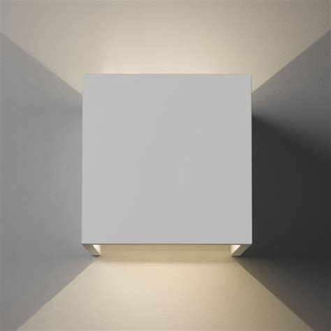 astro lighting 7152 pienza led 3000k white plaster cube