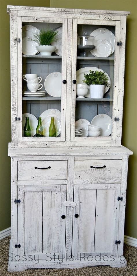 diy chalk paint hutch sassy style diy barnwood hutch makeover with sloan