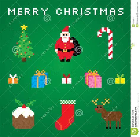 best pixel merry christmas ein sehr pixel weihnachten vektor abbildung bild kunst 27733411