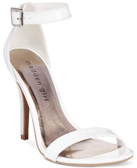 white dress sandals for madden dafney two dress sandals in white lyst