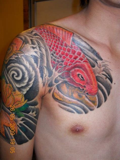 tattoo koi chest 48 magnificent fish tattoos designs on chest