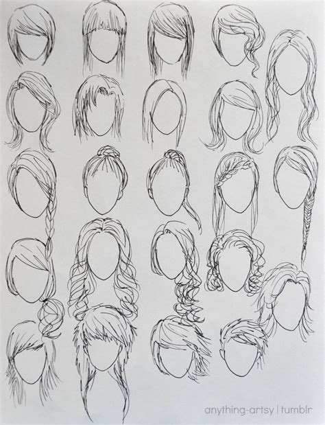 anime hairstyles to draw hairstyles for girls by anhpho on deviantart