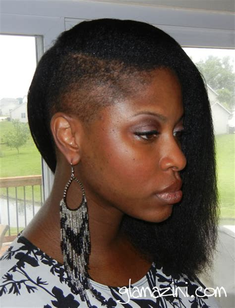 natural hair shaved side blow dried hair with shaved side glamazini com