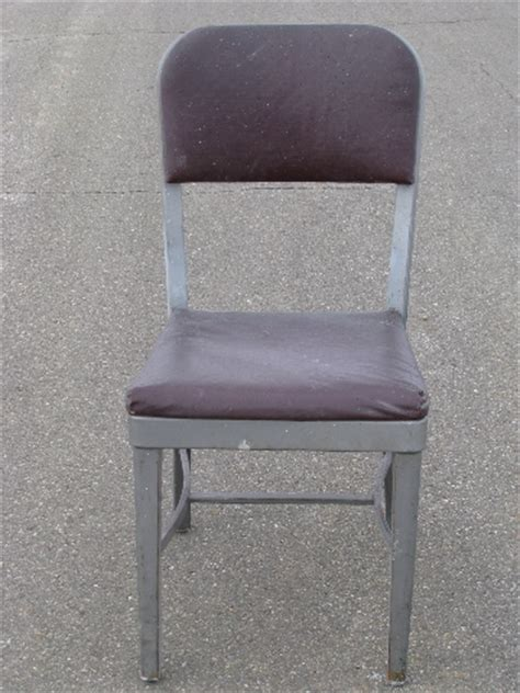 mid century modern vintage steel office desk chair