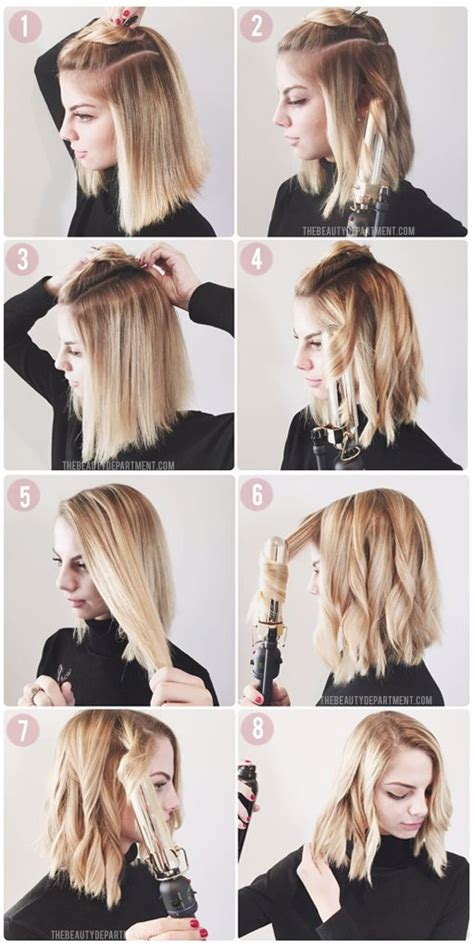 ways to style chin length hair 2 easy ways to style your hair with pictures wikihow