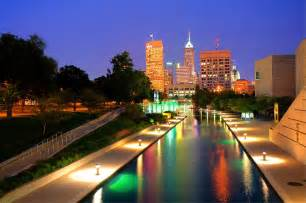 Indianapolis To Indianapolis Canal Skyline View Photograph By Gregory Ballos