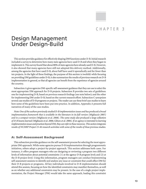 variations under design and build contract chapter 3 design management under design build guide