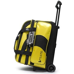steeler colors pyramid path deluxe roller bowling bag black gold