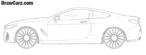 8 Series Sketches by How To Draw A Bmw 8 Series Drawcarz