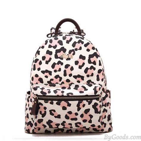 fashion leopard print backpacks school bag fashion