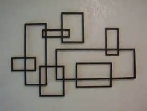 Metal Wall Decor And Sculptures by Mid Century Modern De Stijl Style Geometric Metal Wall