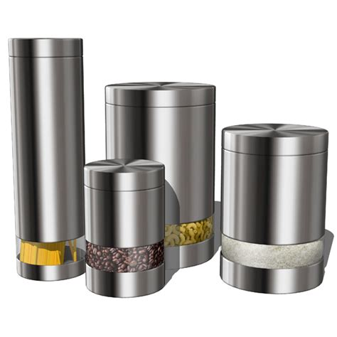 modern kitchen canister sets kitchen accesories 02 3d model formfonts 3d models textures