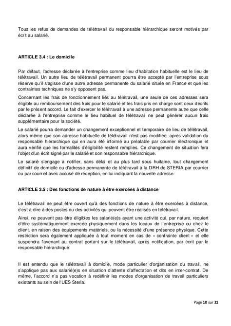 Modele Avenant Contrat De Travail Fonction Publique Modele De Lettre Teletravail