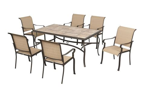 hton bay belleville 7 patio dining set the home