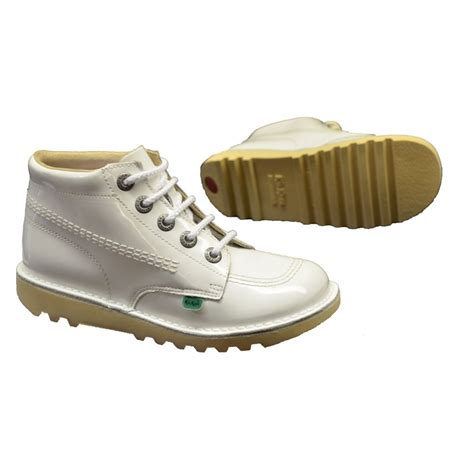 Boots Kickers 1 kickers kickers kick hi youth patent white n37 1