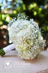 hydrangea bouquet hydrangea and baby breath baby s breath and hydrangea bouquet wedding ideas bouquets