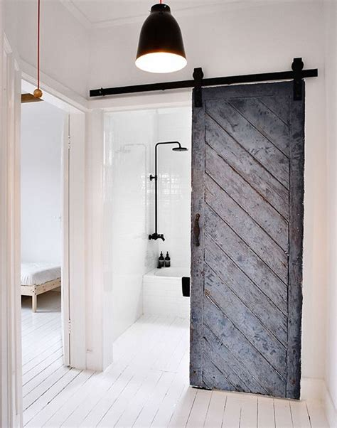 Bathroom with sliding barn door 720 manzano pinterest