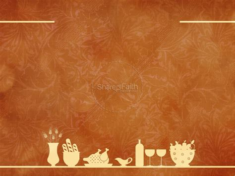 happy thanksgiving event powerpoint template fall