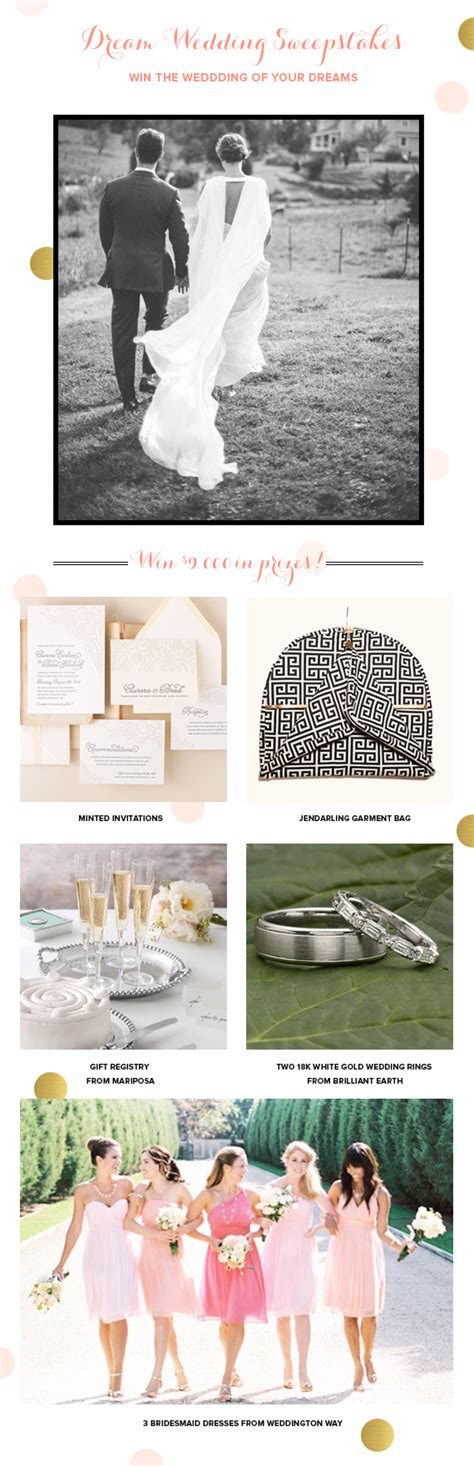 Wedding Giveaway Contest - win a dream wedding package by minted sweepstakes 100 layer cake