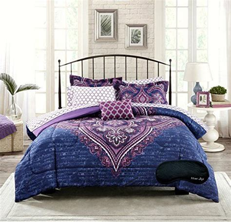 purple teen bedding new boho chic blue purple teen girls comforter shams