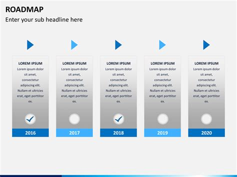 powerpoint template roadmap roadmap powerpoint template sketchbubble