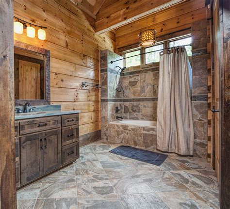 Bathrooms In Log Homes by Custom 9 800 Sf Log Home