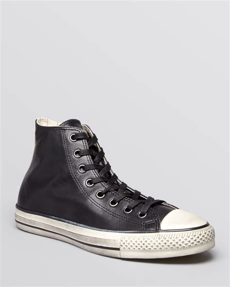 chuck leather sneakers lyst converse by varvatos chuck all