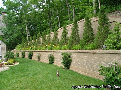 agape retaining walls inc terrace photo album 2