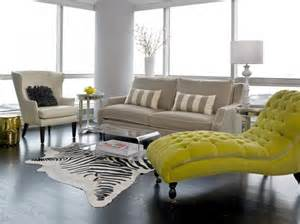 Chaise Chairs For Sale Design Ideas Striped Pillows In Cozy Transitional Living Room Ideas With Lime Green Chaise Longue And
