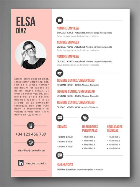 Plantillas De Curriculum Vitae Para Bachilleres plantilla cv lima orientaci 243 n para el empleo