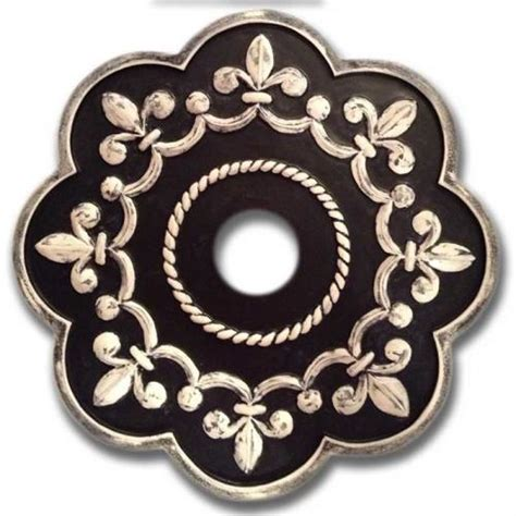 Fleur De Lis Ceiling Medallion by Fleur De Lis Chandelier Medallion Distressed Black By