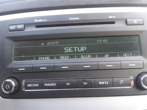 swing radio skoda octavia radio swing aux aux nie mam w menu