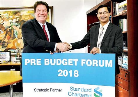 Colombo Mba 2018 by Standard Chartered Bank Backs Unique 2018 Pre Budget Forum