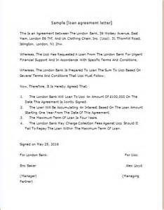 loan agreement letter template loan agreement letter template for word word excel
