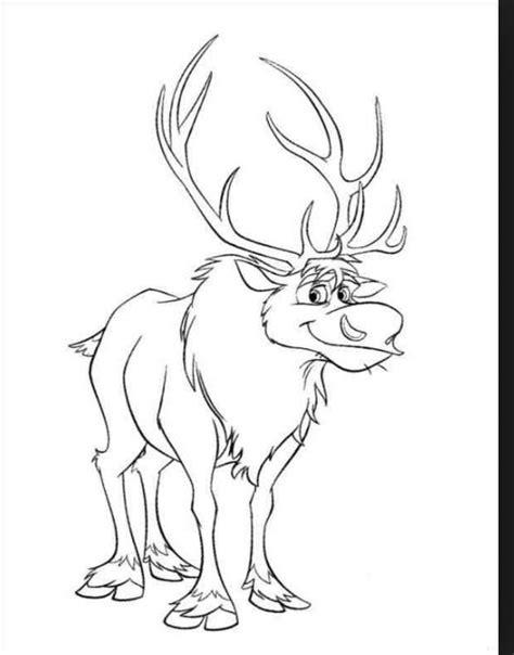 sven reindeer coloring page sven coloring page disney pinterest