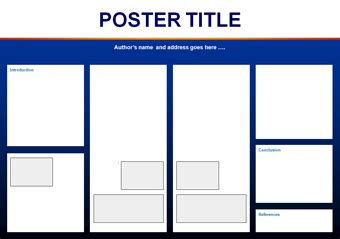 Academic Poster Template Publisher Chatorioles A1 Size Presentation Poster Templates