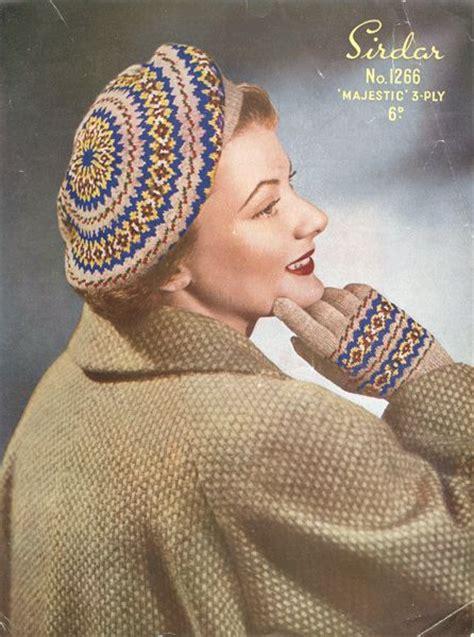 vintage knitting pattern beret vintage fair isle beret knitting pattern for ladies fair