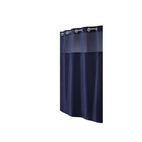 discontinued shower curtains hookless shower curtain in mystery navy discontinued rbh40ls226 the home depot