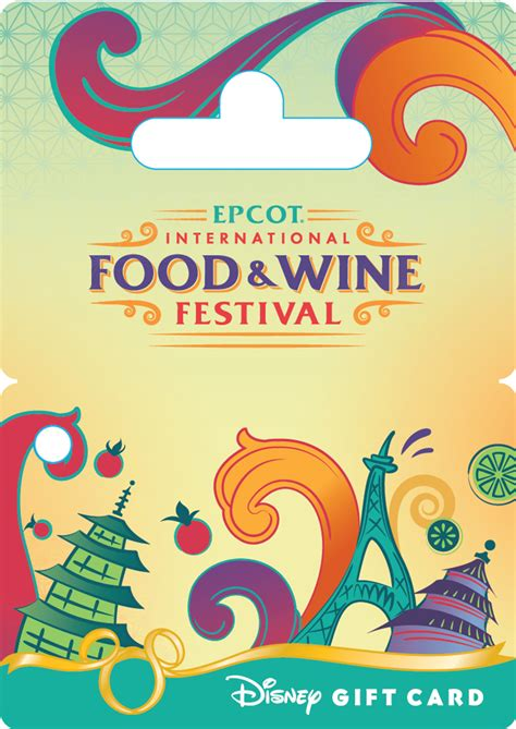 Sea World Gift Cards - new epcot international food wine festival disney gift card is convenient and colorful