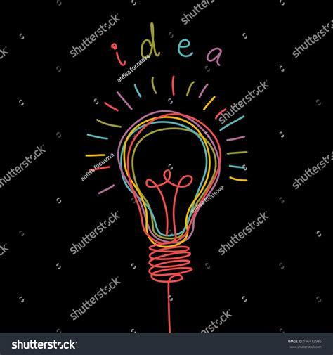 doodle or sign up genius vector light bulb icon concept idea stock vector 196413986