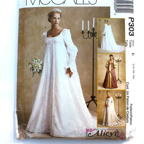 pattern medieval dress renaissance bridal gown sewing pattern princess dress