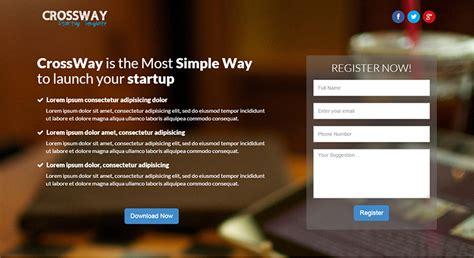12 startup landing page template download free premium