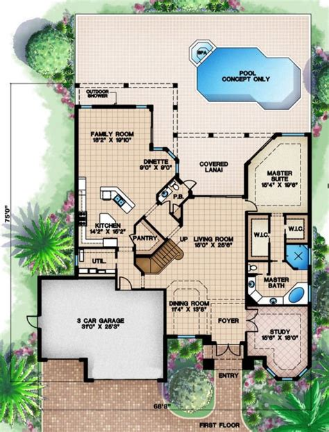 Floor Plan Beach House | montecito ii beach house plan alp 08al chatham design