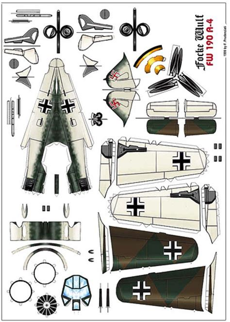 Ww2 Papercraft - focke wulf fw190a 4 tom wigley flickr