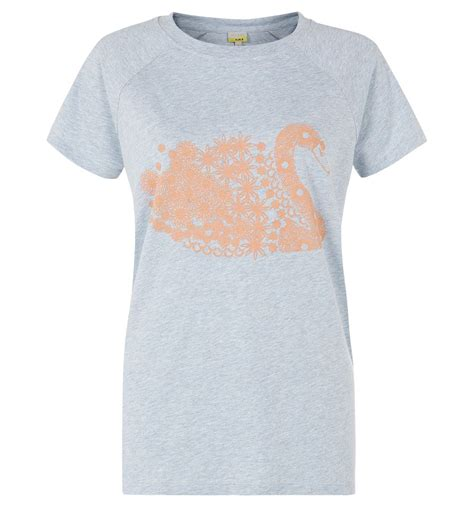 swan tshirt hobbs swan t shirt in gray grey lyst
